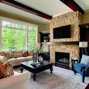 Integrity Wood Ultrex Insert Double Hung Living Room